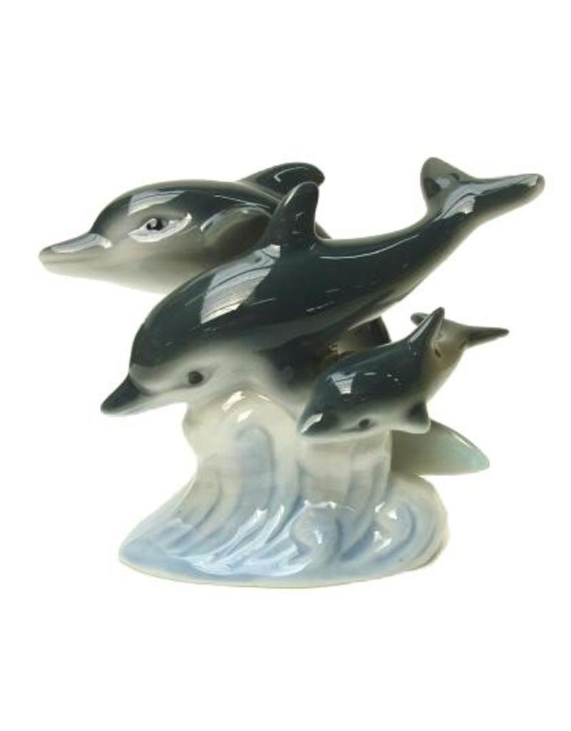 Dolfijn Trio h=10cm porcelein