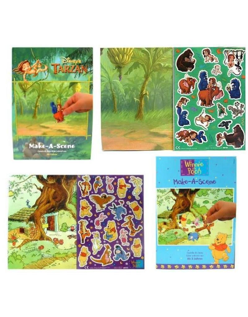 Jungleboek/Winnie the Pooh Make a Scene Plakstickers