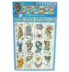 Tattoo stickers 12 op kaart