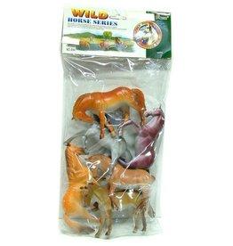 Wilde Paarden 6 stuks in folyzak à 29x26cm.