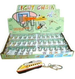 Sleutelhanger.TCV 5,5cm. met licht afn. per display à 36