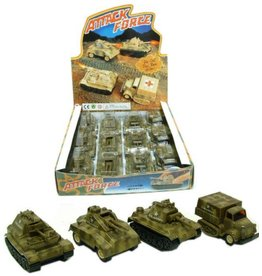 Die Cast Attack Force Tank 4 assorti