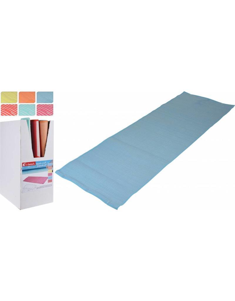Strandmat Streep Design 180x60cm.  6 ass. kleur