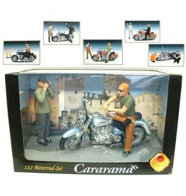 Motorfiets Cararama in windox box 30x19cm. 6 assorti.