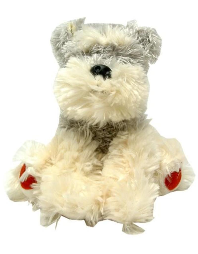 Pluche Schnauser Hond zittend 18cm