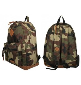 Rugzak camouflage 32x16x45cm. polyester