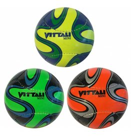 Mini Voetbal 130mm. 2 assorti kleur