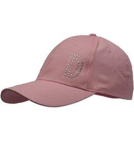 Cap Dames Roze met D in strassteentjes maat 58