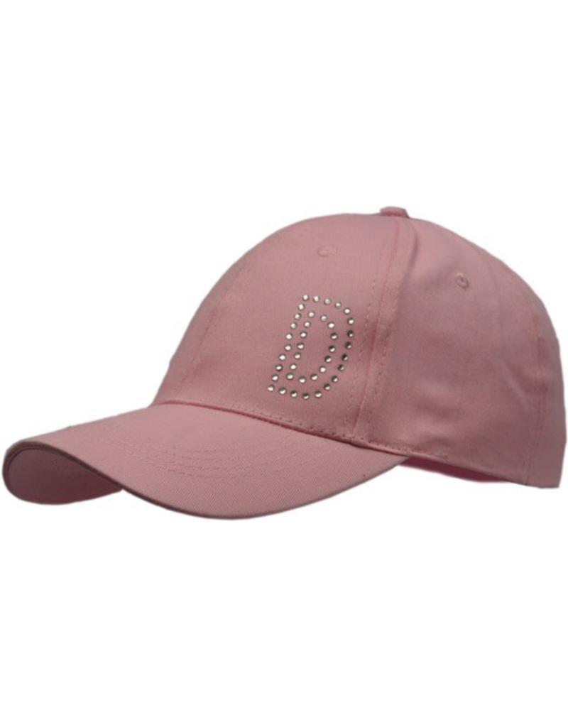 Cap Dames Roze met D in strassteentjes mt 58