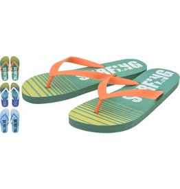 Heren Teenslippers maat 40-45 3 assortie print