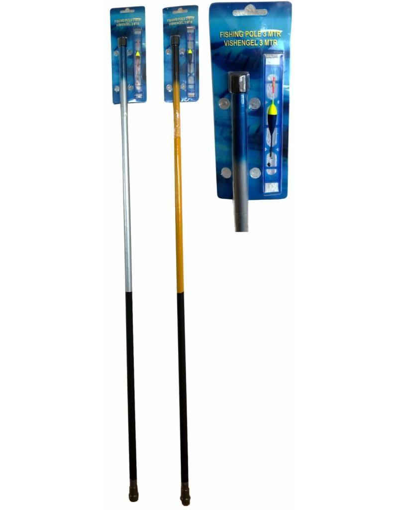 Hengel Thunderstick 3mtr. + Tuig 2 ass. kleur