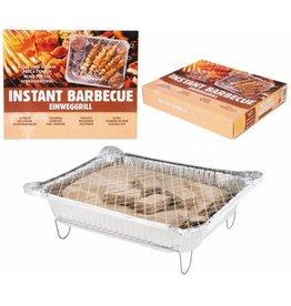 Instant Barbecue 32x25x6cm met houtskool & aanmaakblokjes