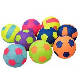 Voetbal/Volleybal 23cm. 9 ass. Mesh Opblaasbaar
