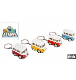 DieCast Sleutelh. VW Bus mini 4 ass kleur per 12 in display