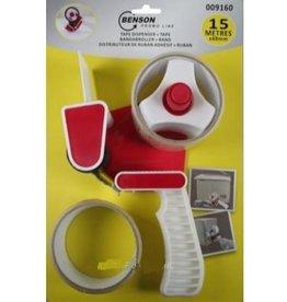 Tape Dispenser + 2 tape rollen 15mtr.x48mm