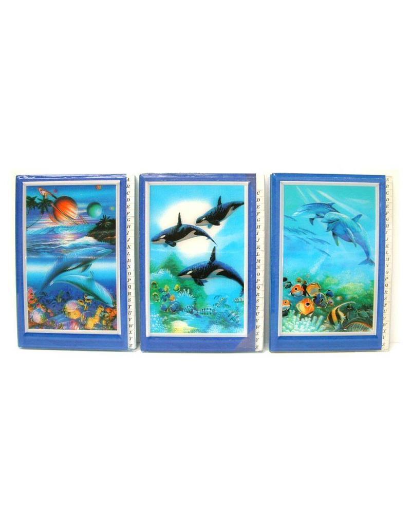 3D Adresboek Dolfijnen 3 assortie afbeeldingen