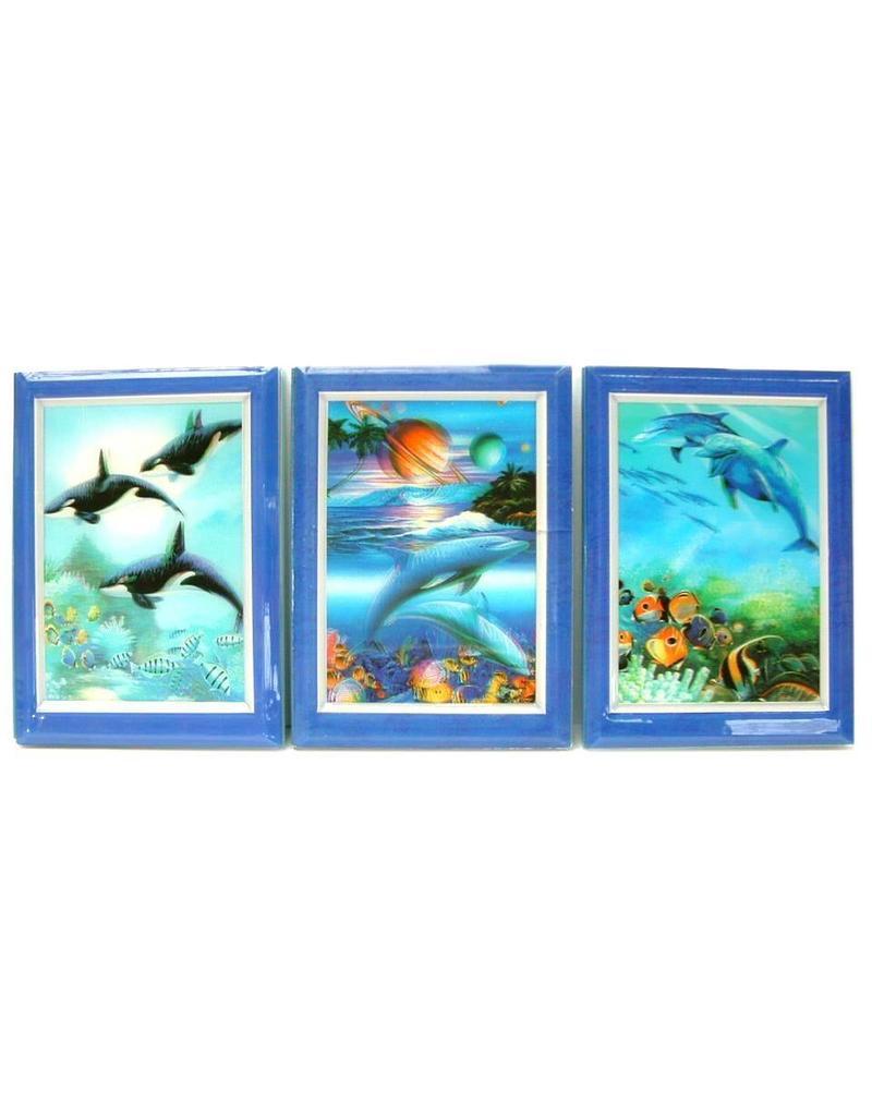 3D Notitie boekje Dolfijn gelijnd  11.5x16cm