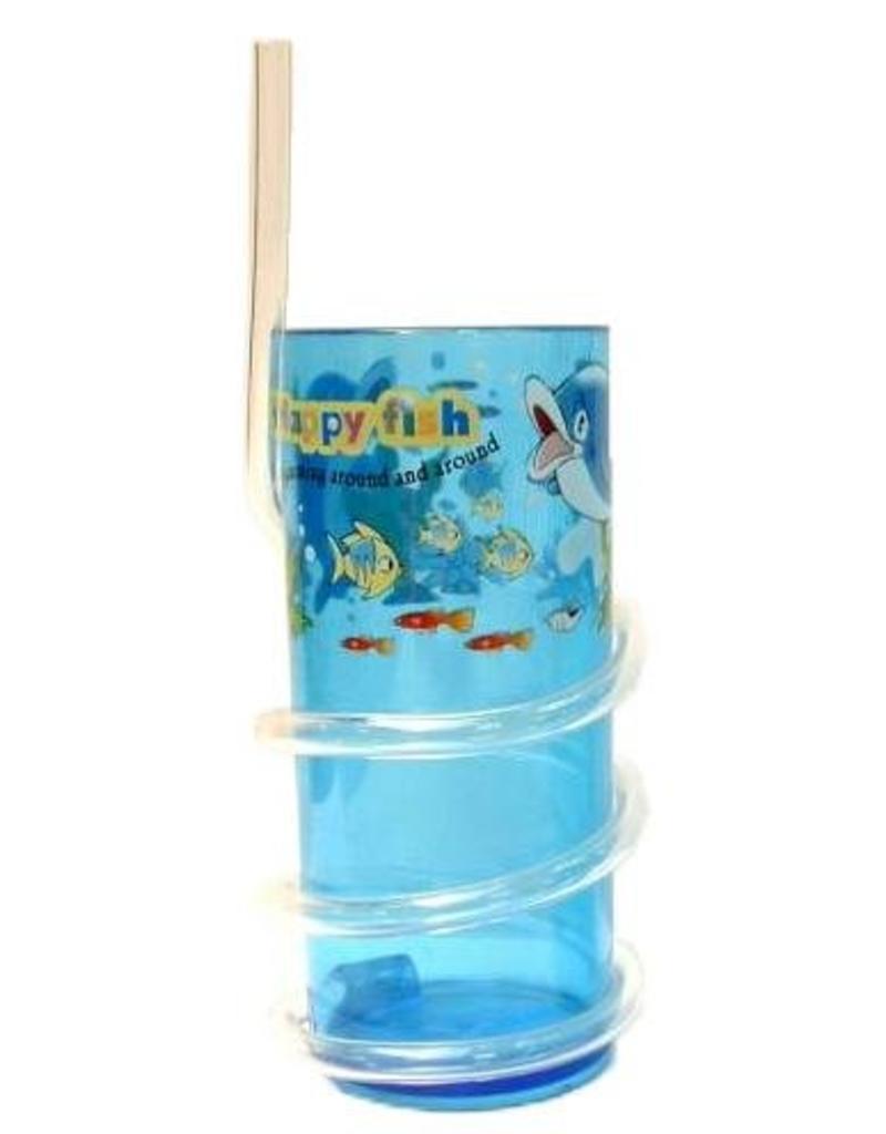 Beker Dolfijn + rietje 12cm
