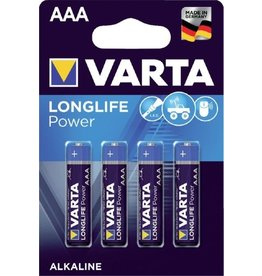 Varta Longlife Power Batterij mini LR03 4xAAA