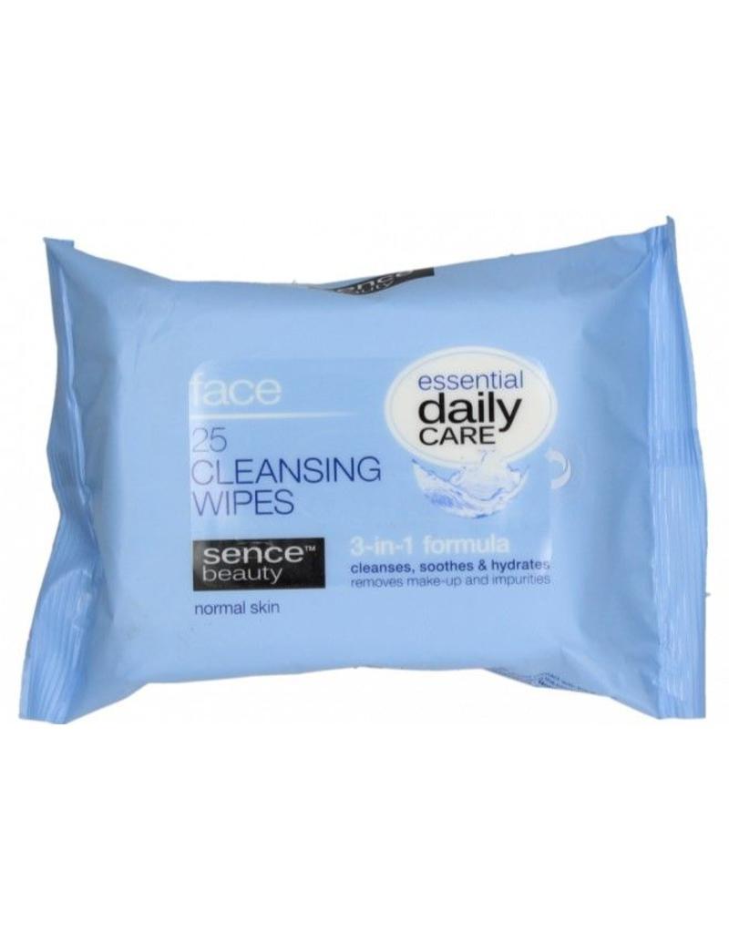 Sencebeauty Reinigingsdoekjes 3in1 normale huid 25st.