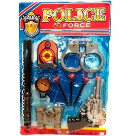 Politieset op kaart 42x28cm.