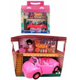 Picknick Auto met accesoires in box 36x23x11,5cm.