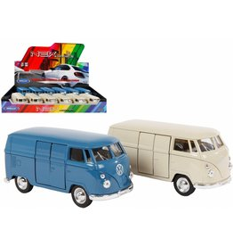 DieCast VW Bus T1 1:38 2 assorti kleur pull back