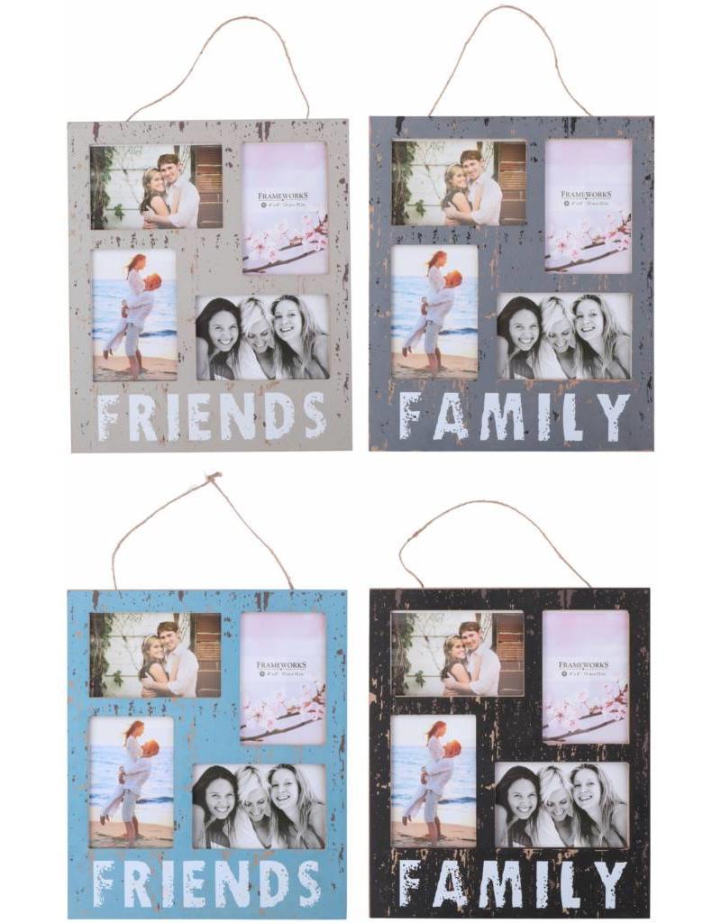 Fotolijst 30x35x1cm. MDF 4 assortie design