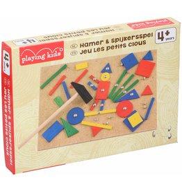 Hamer & Spijkersspel Playing Kids ca 67 delig 27,5x19,5x3cm.
