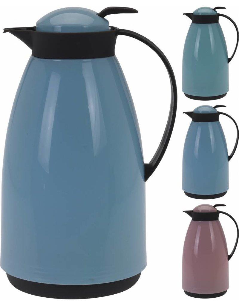Koffiekan 1 liter 3 assorti kleur