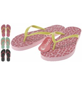 Dames Teenslipper maat 36-41 3 assortie kleur