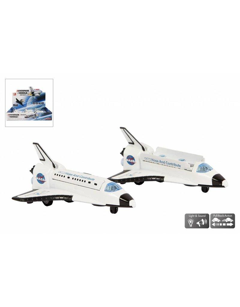 DieCast Space Shuttle 14cm. met licht en geluid pull back