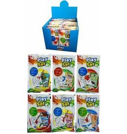 Play Set 6dlg: kleurboekje,4 wasco's+stickervel 6ass.