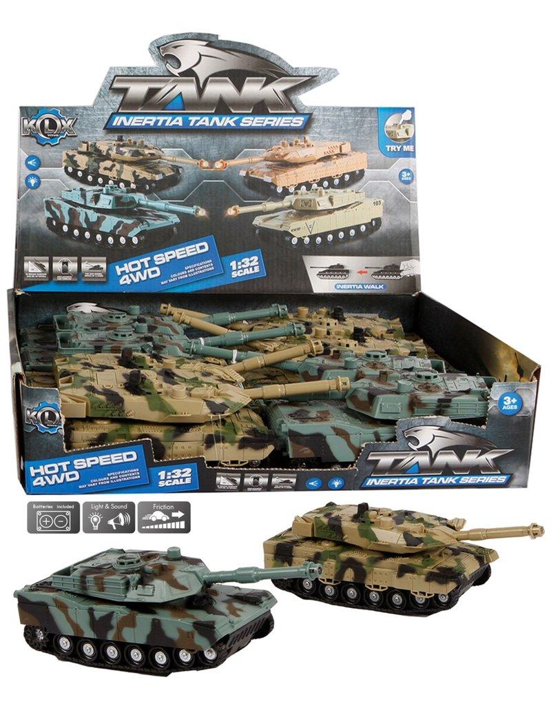 Tank 18cm. met licht en geluid 2 ass. kleur