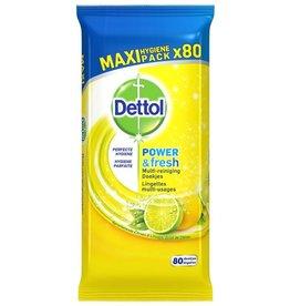 Dettol Hygiënische Doekjes Power&Fresh Citroen 80st.