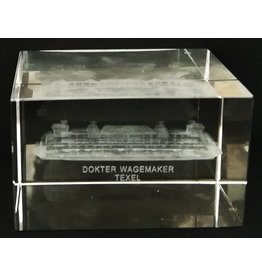3d Laser Kristal Blok Dr. Wagemaker Boot 5x5x8cm