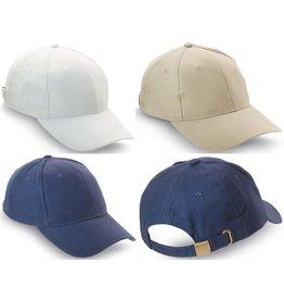 Baseball Cap 3 assorti kleur met verstelbare sluiting