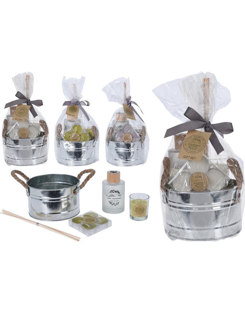 Cadeauset Aroma 4 delig in emmer 3 assorti geur