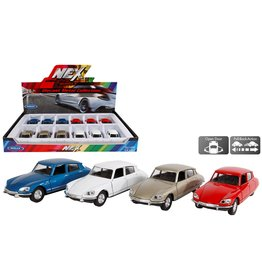 DieCast Citroen DS 1973 1:34-39 4 assorti kleur
