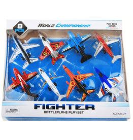 Vliegtuigen 12cm. set a 8 stuks