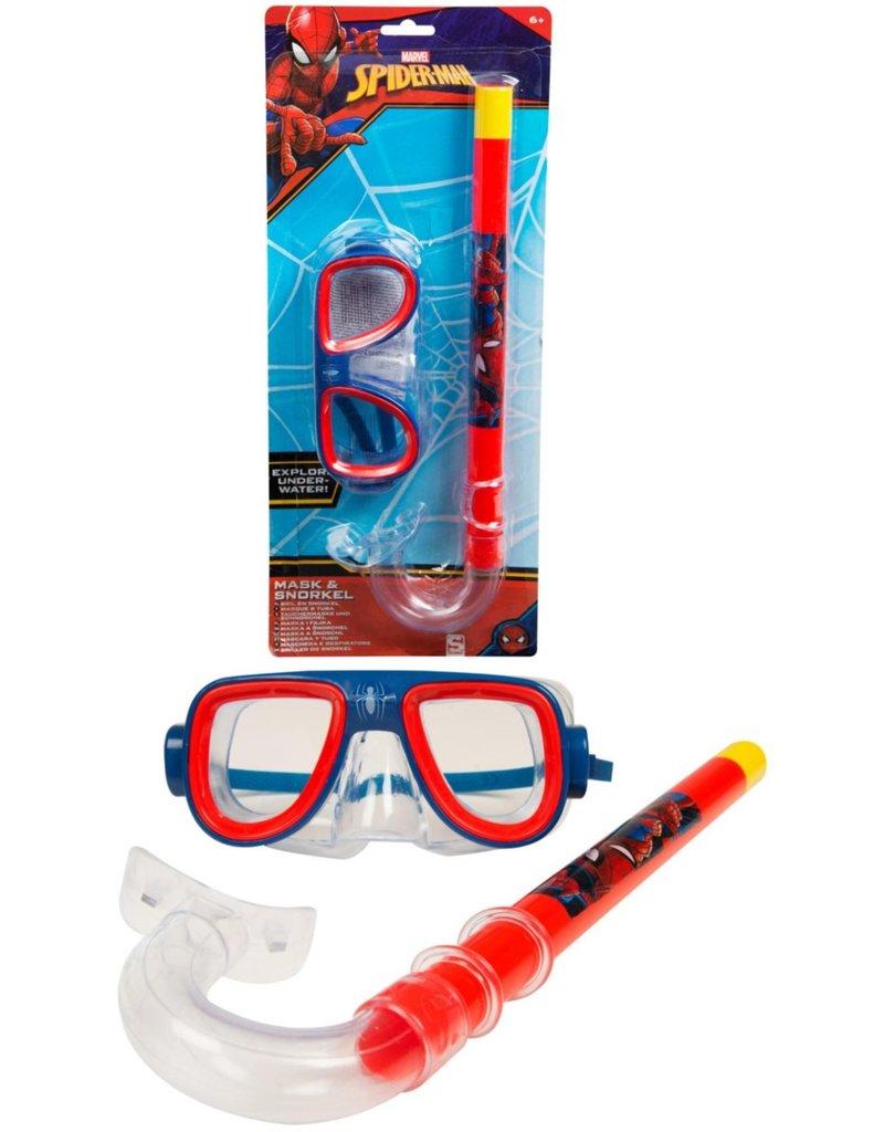 Spiderman Duikbrilset met snorkel op kaart 41x17,5x6cm.