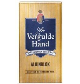 Vergulde Hand Aluin Blok in Houder 75gr.