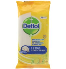 Dettol Cleaning Wipes Lemon&Lime 32 stuks