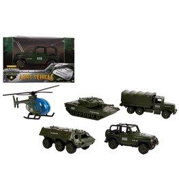 DieCast Militaire Voertuig 1:72 7cm. 5 assorti model
