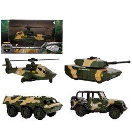 Militaire Voertuig 1:64 12cm. 4 assorti model