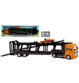 DieCast Vrachtwagen Autotransporter met auto 32cm.