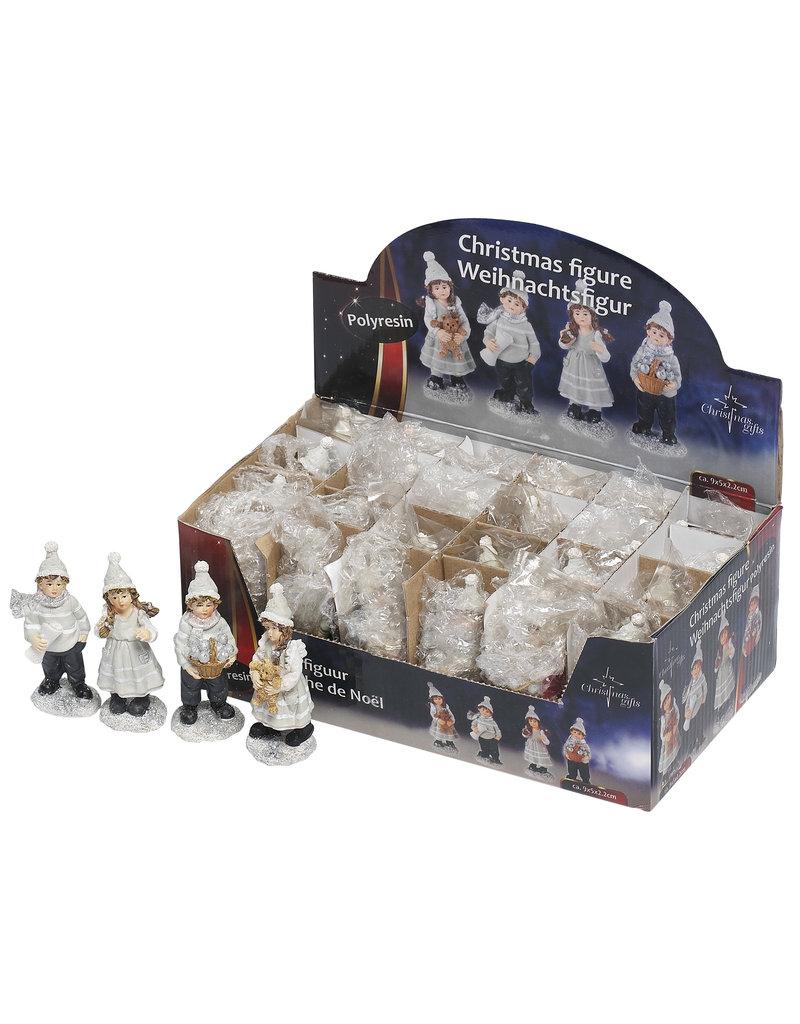 Kerstfiguur 9x5x2,2cm. 4 assorti model