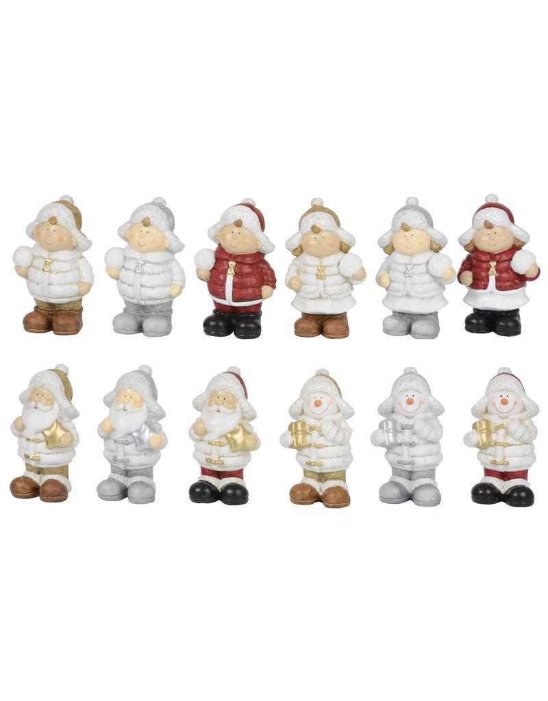 Kerstfiguur 14,5cm. 4 assorti model 3 assorti kleur