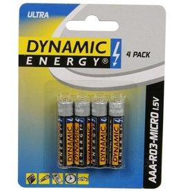 Dynamic Energy Batterij 4xAAA
