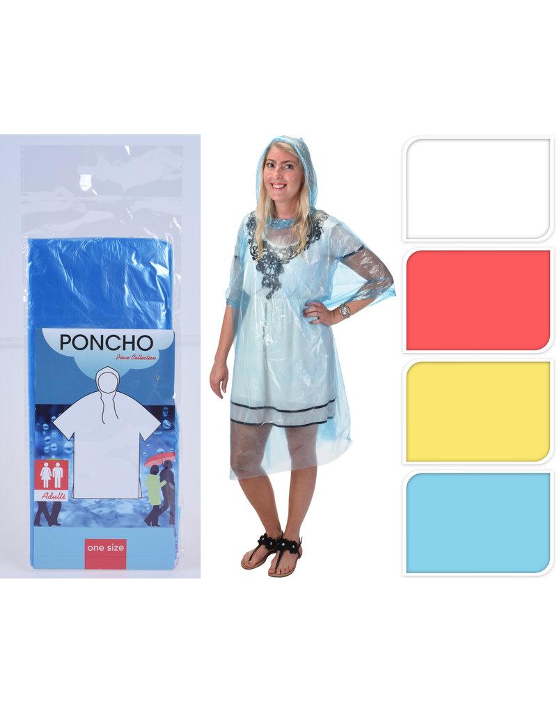 Poncho voor Volwassenen 4 assorti kleur